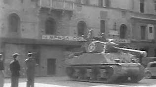 Carri armati americani in piazza del Monte