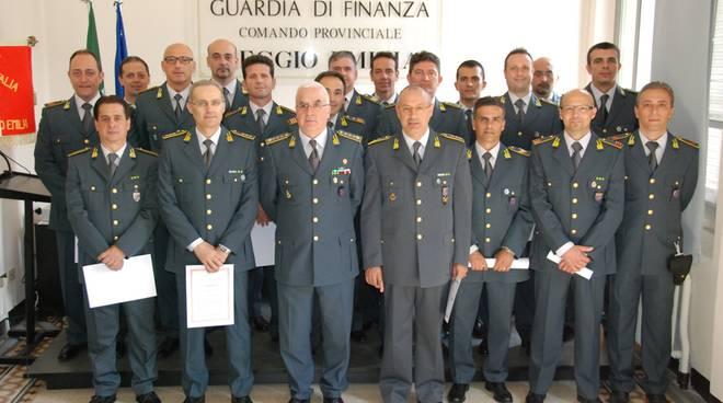Gli uomini della Guardia di Finanza reggiana