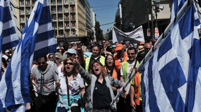 Proteste in Grecia