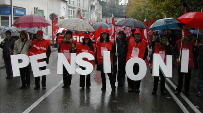 Protesta dei pensionati