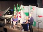 Maria Elena Boschi  con la giornalista Sarah Varetto di Sky Tg24