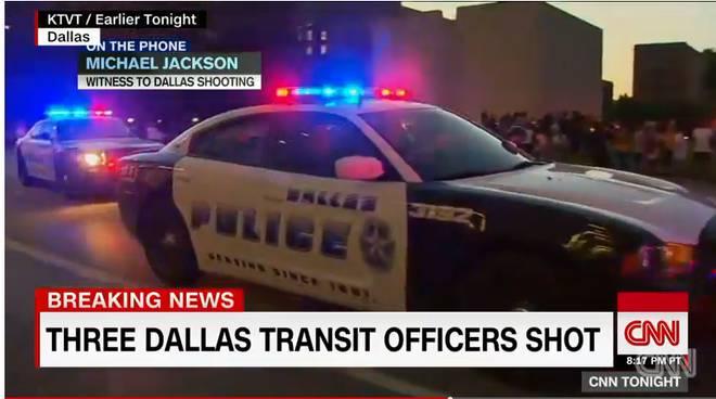 Immagini Cnn sui fatti di Dallas