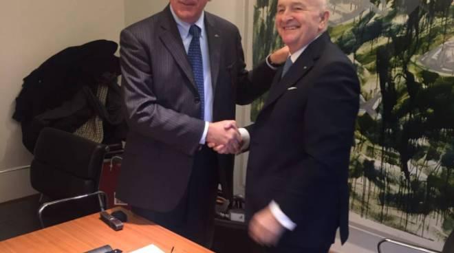 Il presidente Renato Brevini e l'ing. Rino Tarolli di Dana Italia