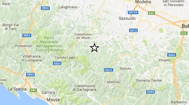 Terremoto oggi a Reggio Emilia: epicentro tra Toano e Villa Minozzo