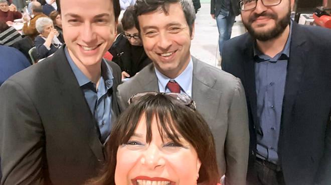 Andrea Orlando tra Matteo Panari, Emanuele Cavallaro e Roberta Mori