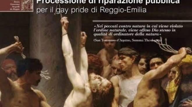Reggio Emilia, processione contro Gay Pride: