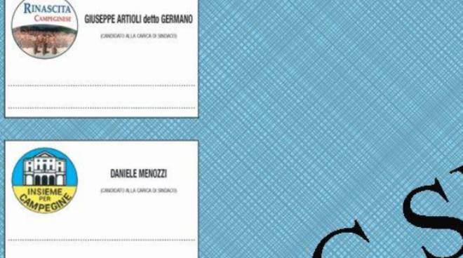 I simboli delle due liste che si sfidano a Campegine