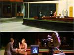 """I nottambuli"" di Edward Hopper (sopra); ""The End of Violence"" di Wenders (sotto)"