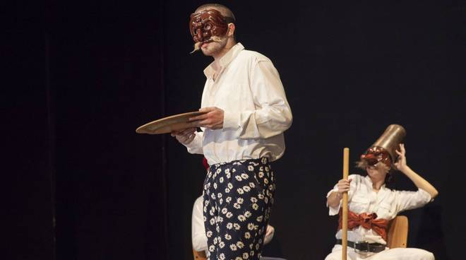 "Commedia dell'arte con ""The fourth monkey"""