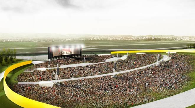 L'Arena-eventi del Campovolo: il progetto