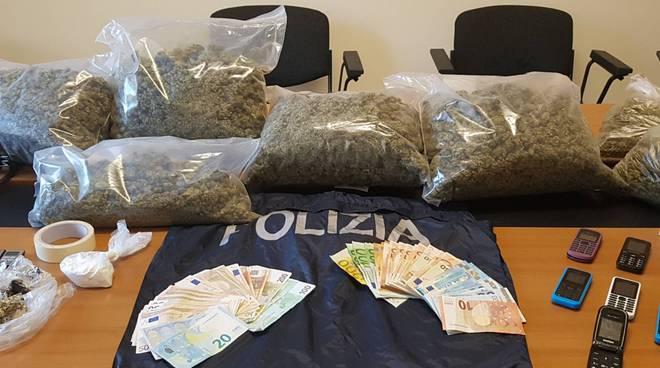 La marijuana e le altre tipologie di droghe sequestrate