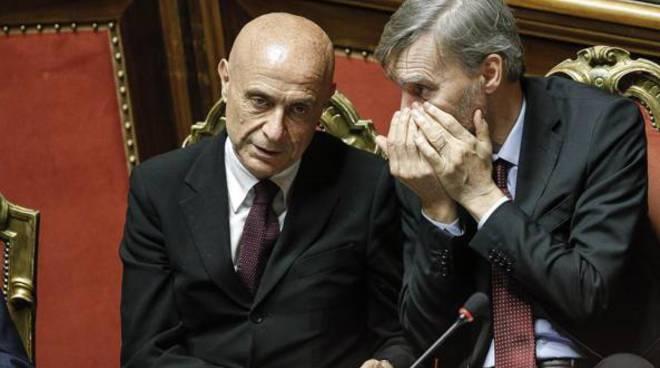 I ministri Graziano Delrio e Marco Minniti