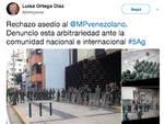 L'appello via twitter dell'ex procuratore generale Luisa Ortega Diaz