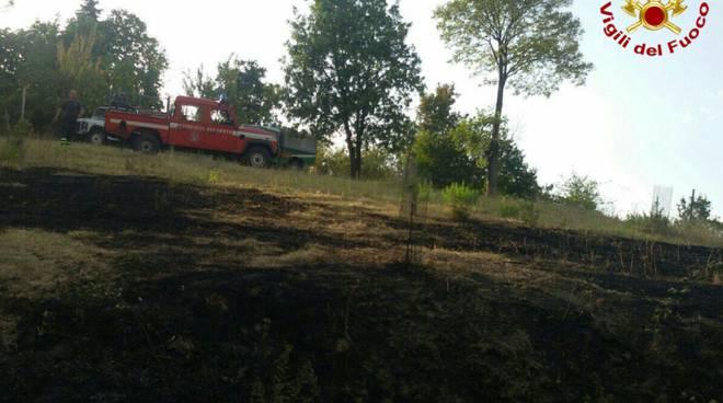 L'incendio sulle colline di Scandiano