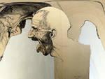 Ligabue in un'opera di Nani Tedeschi