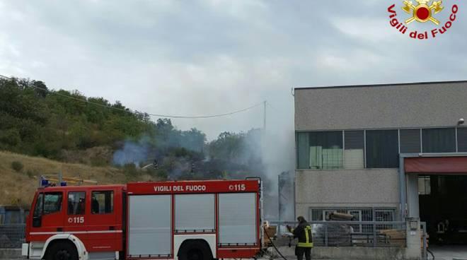 L'incendio a Baiso