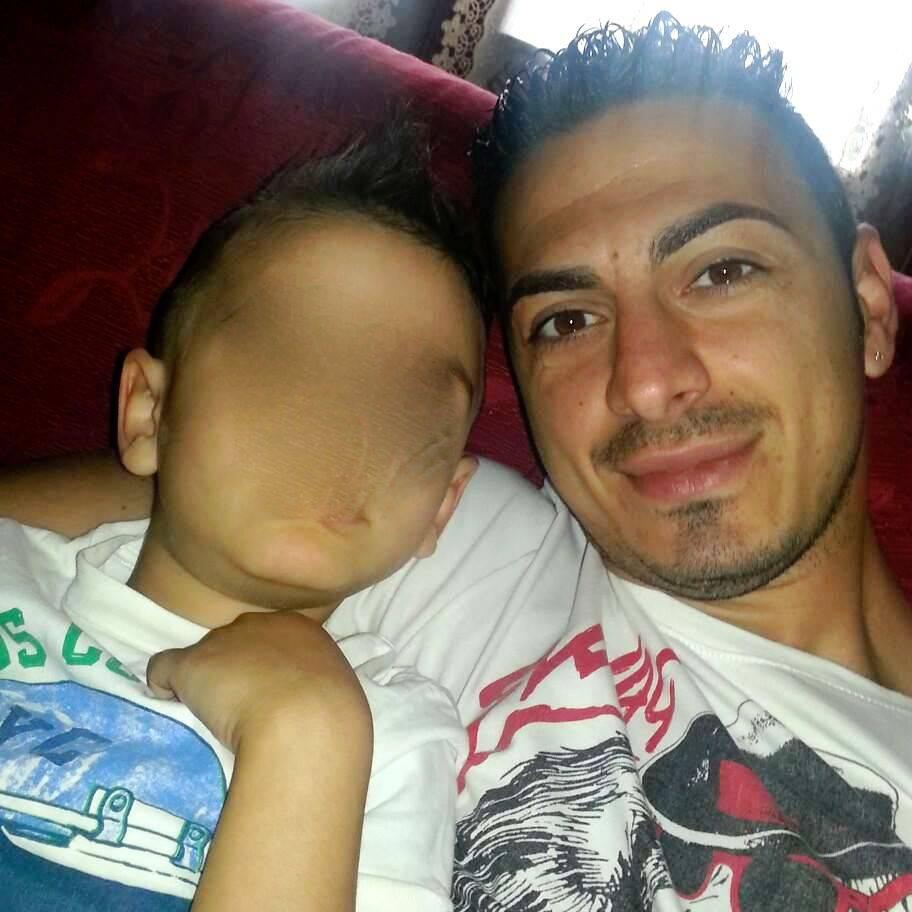 Francesco Citro con il figlioletto