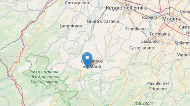 Scossa di terremoto in Appennino