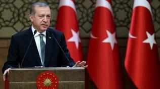 Il presidente della Turchia, Erdogan