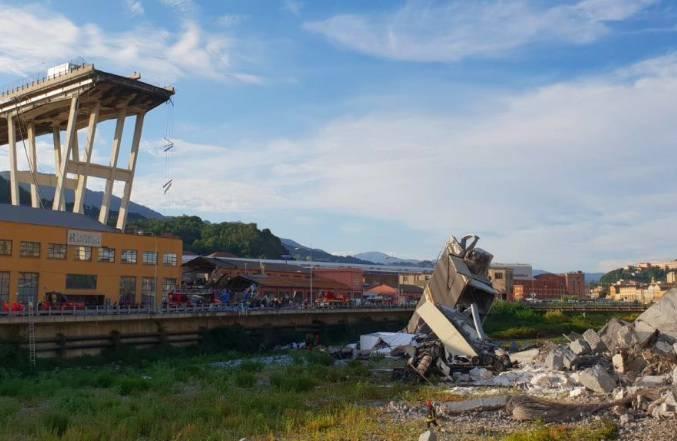 Le macerie del Ponte Morandi