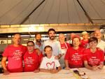 Maurizio Martina  con Andrea Costa e i volontari della Festa