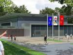 Una immagine del progetto del nuovo Palasport di Guastalla