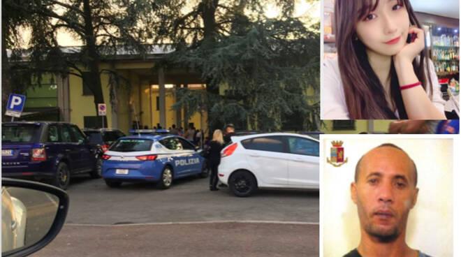 La vittima Stefania Hui Zhou e l'omicida Boukssid Hicham