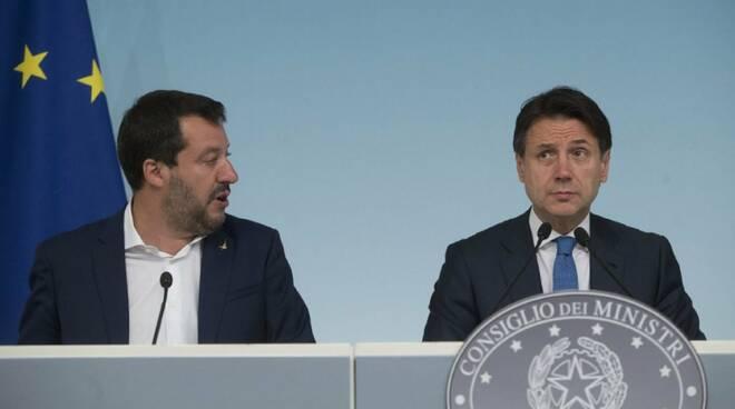 Salvini con il premier Conte