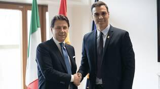 I premier Giuseppe Conte e Pedro Sanchez
