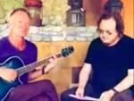 La jam session di Sting e Zucchero