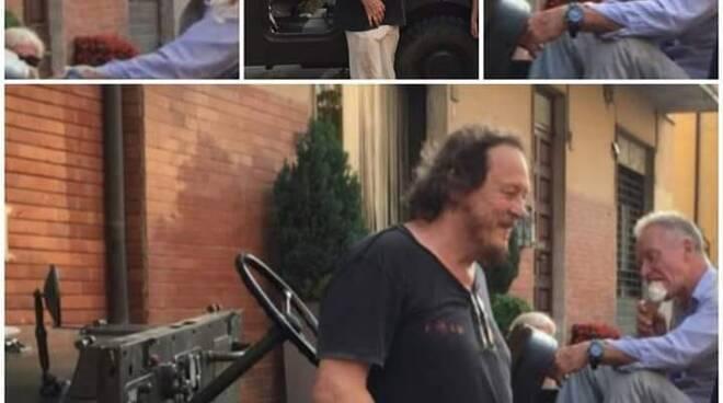 Sting e Sugar a Pontremoli fotografati da un villeggiante